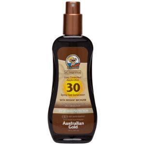 australian gold spf 30 spray gel with bronzer