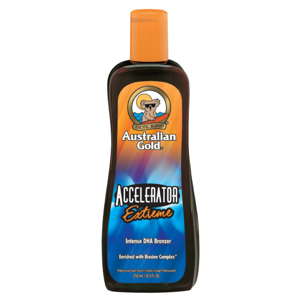Australian gold accelerator extreme dha bronzer tanning lotion