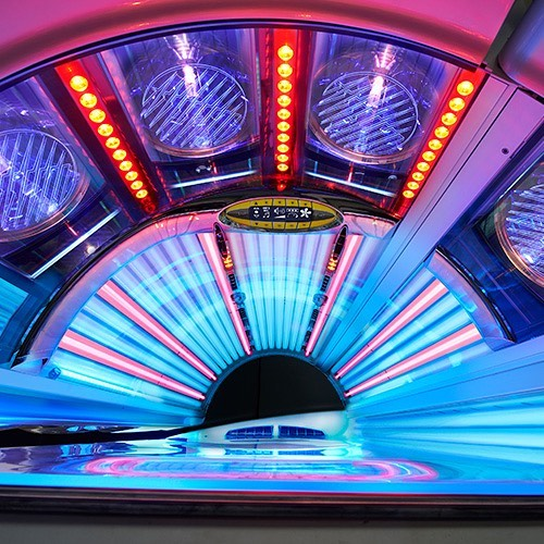 salon ready for summer sunbed tanning