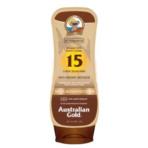 australian gold spf 15 lotion with bronzer