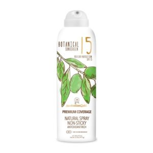 spf 15 continuous spray botanical suncream sunscreen