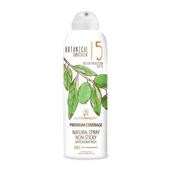 spf 15 continuous spray botanical suncream sunscreen