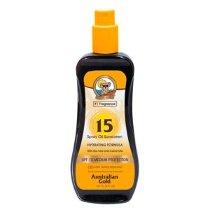 spf 15 spray oil