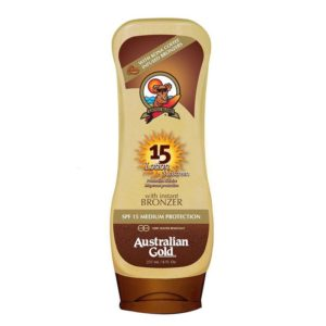 SPF 15 LOTION WITH BRONZERS SUNCREAM SUN SCREEN