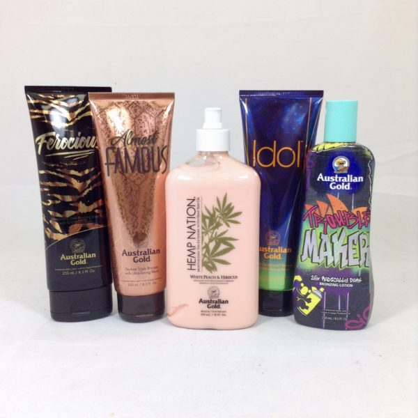 Australian Gold new for 2019 lotions kit cyrano ltd tanning lotions sunbed