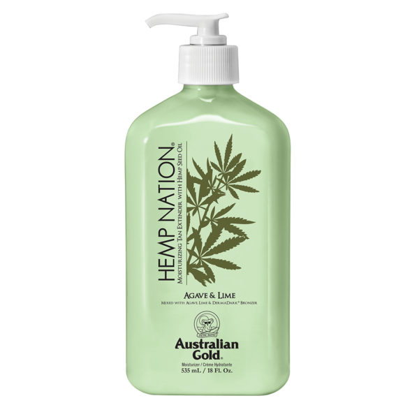 Australian gold new for 2020 tan extender hemp nation agave and lime cyrano