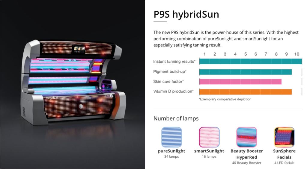 megasun p9s hybridsun sunbed
