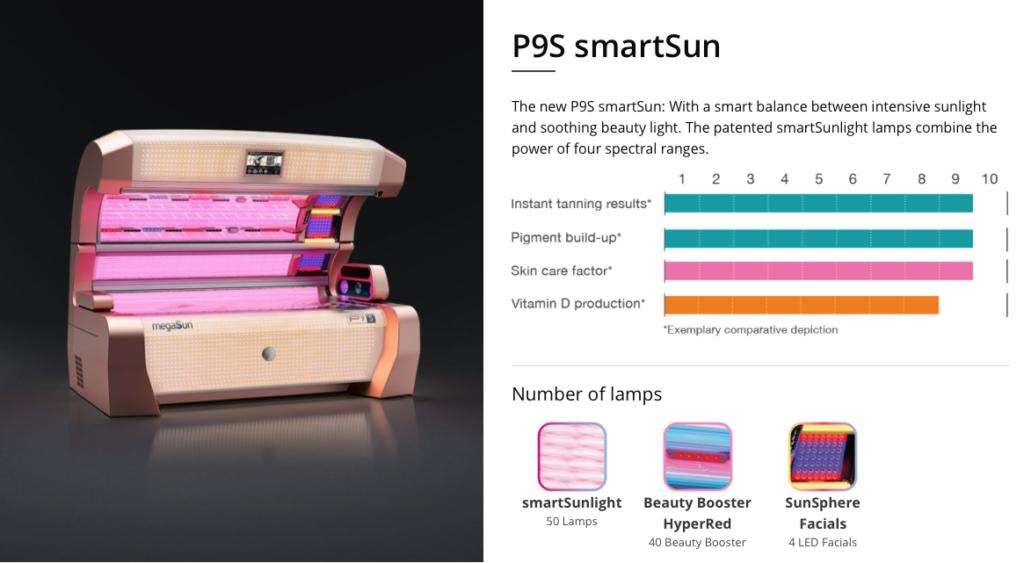 megasun p9s smartsun sunbed