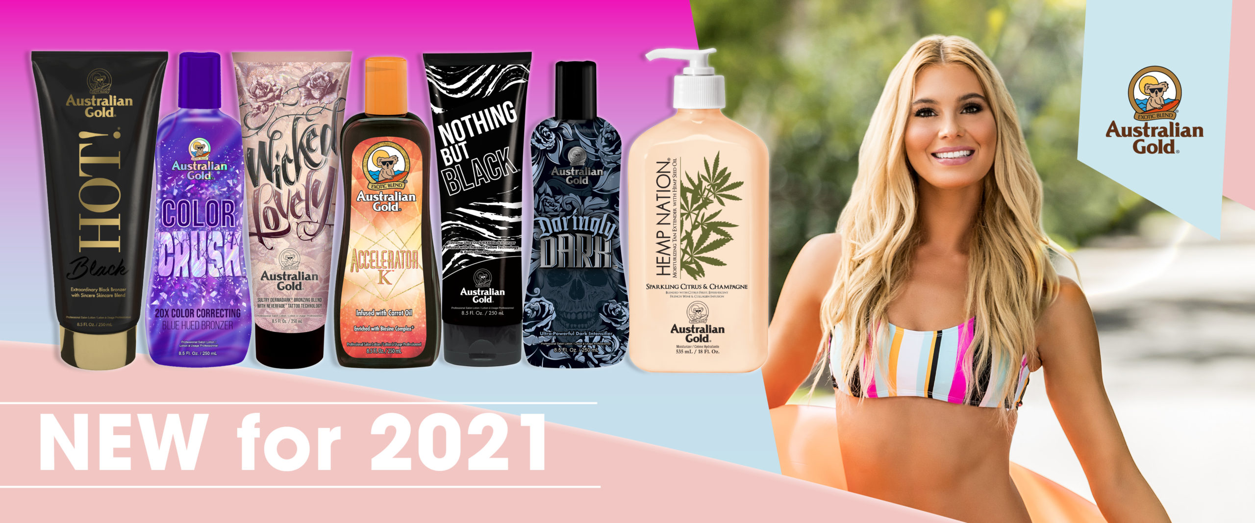 Australian gold new for 2021 tanning lotions