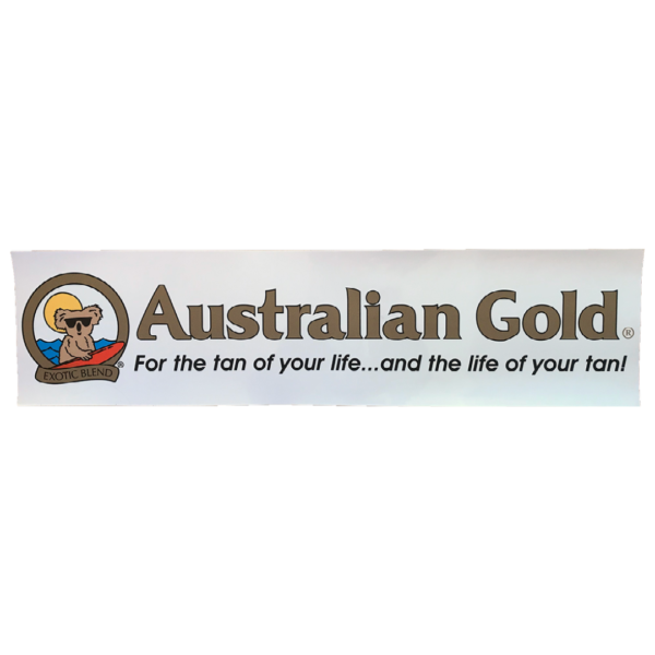 Australian gold window sticker