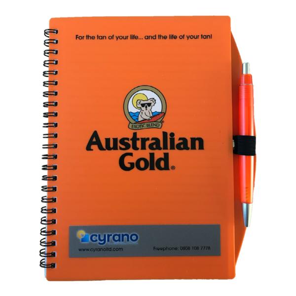 australian gold notebook